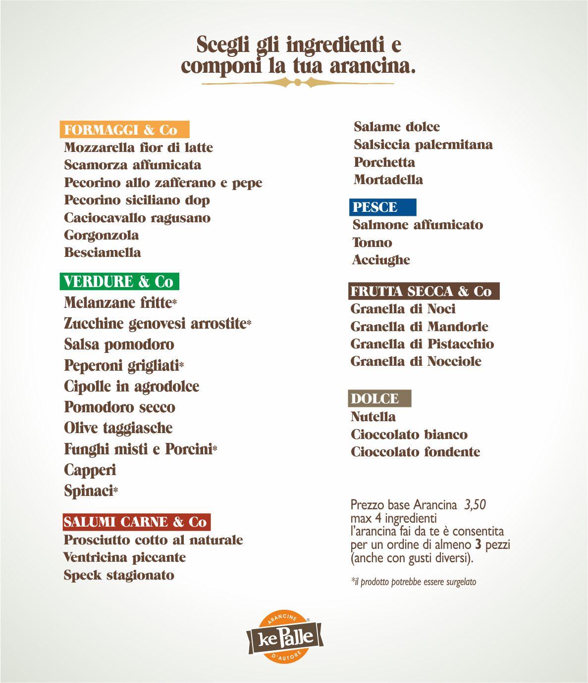 Ingredienti arancina fai da te - Ke Palle